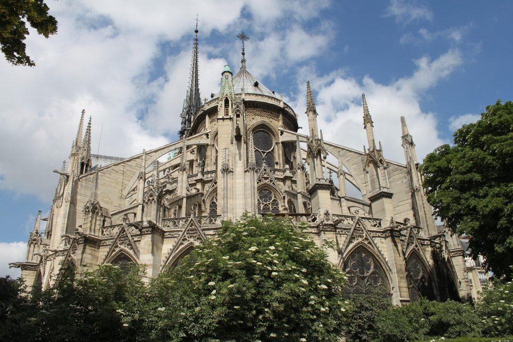 Lo que hay detras de la catedral de Notre Dame